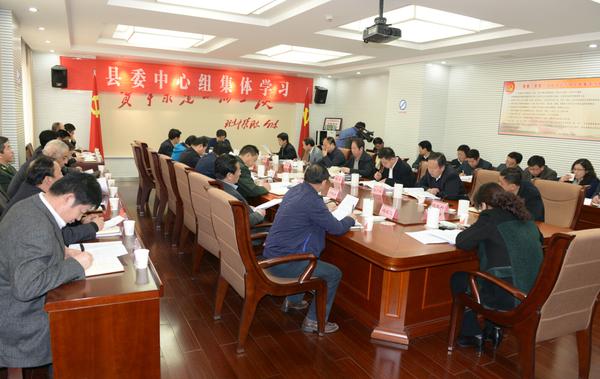 县委中心学习组进行第四次集体学习
